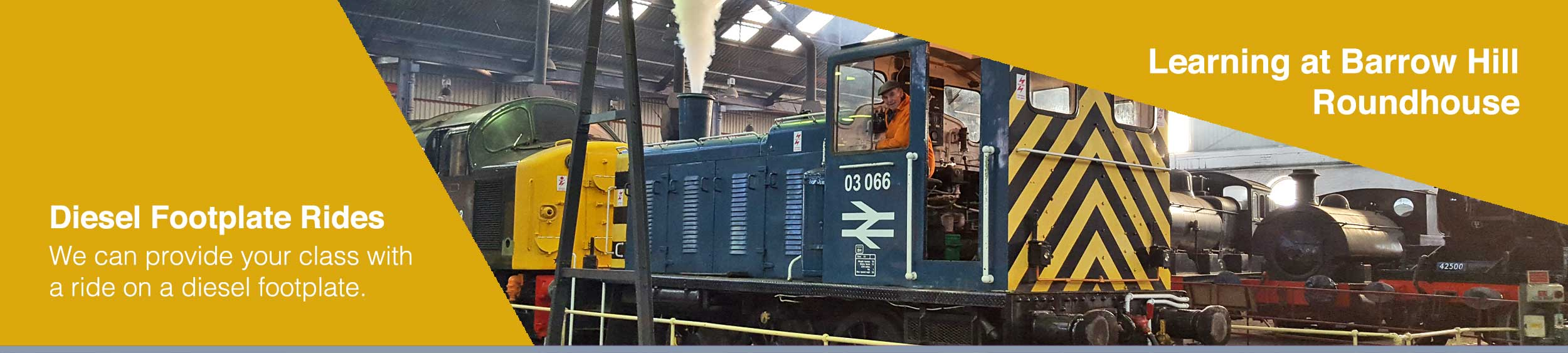 Provide your class with a Diesel Footplate ride during their school trip
