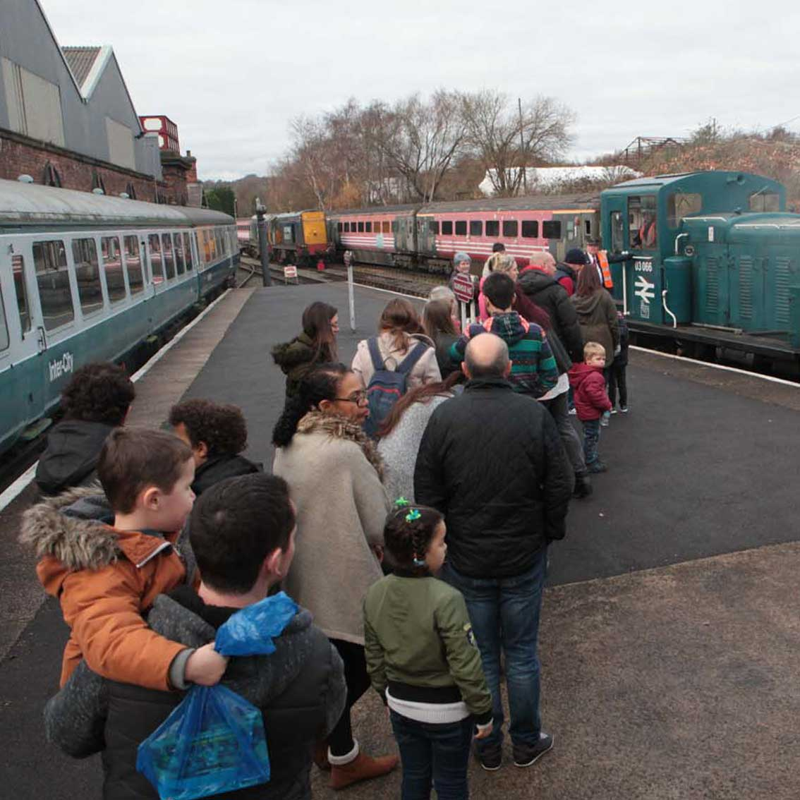 Train Rides for School Trips at Barrow Hill Railway Museum, Chesterfield