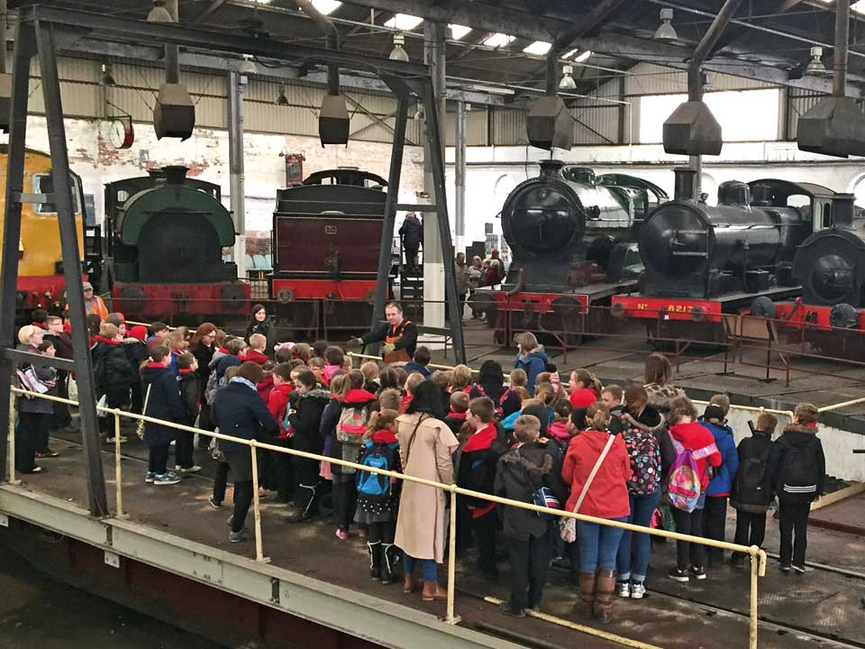 Educational visits to Railway Museum, Barrow Hill Roundhouse, Chesterfield, Derbyshire