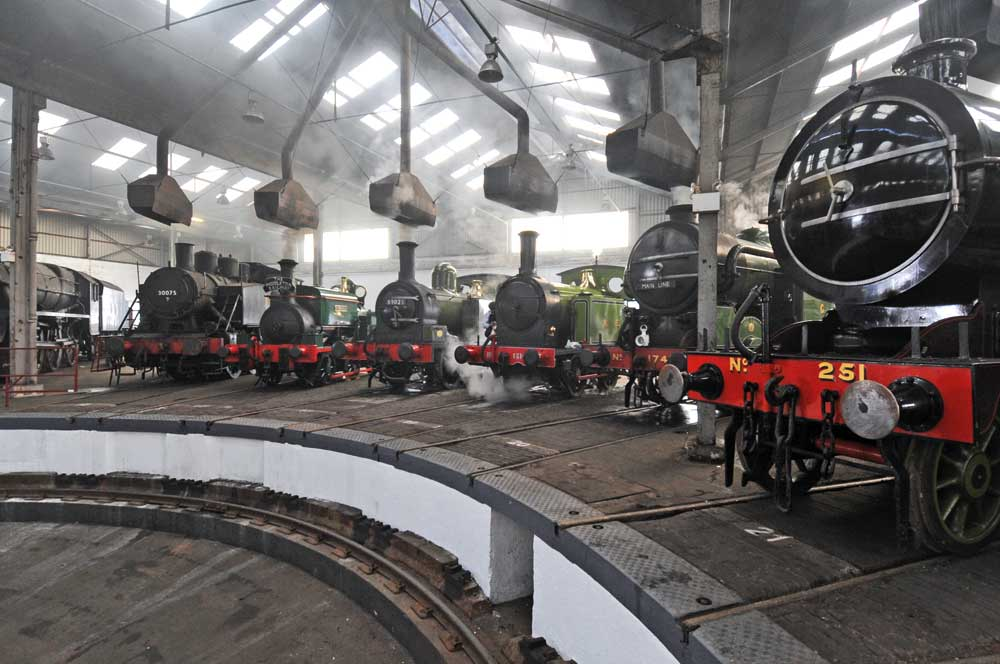 A great family day out for adults and kids at Barrow Hill Roundhouse railway museum, Chesterfield Derbyshire