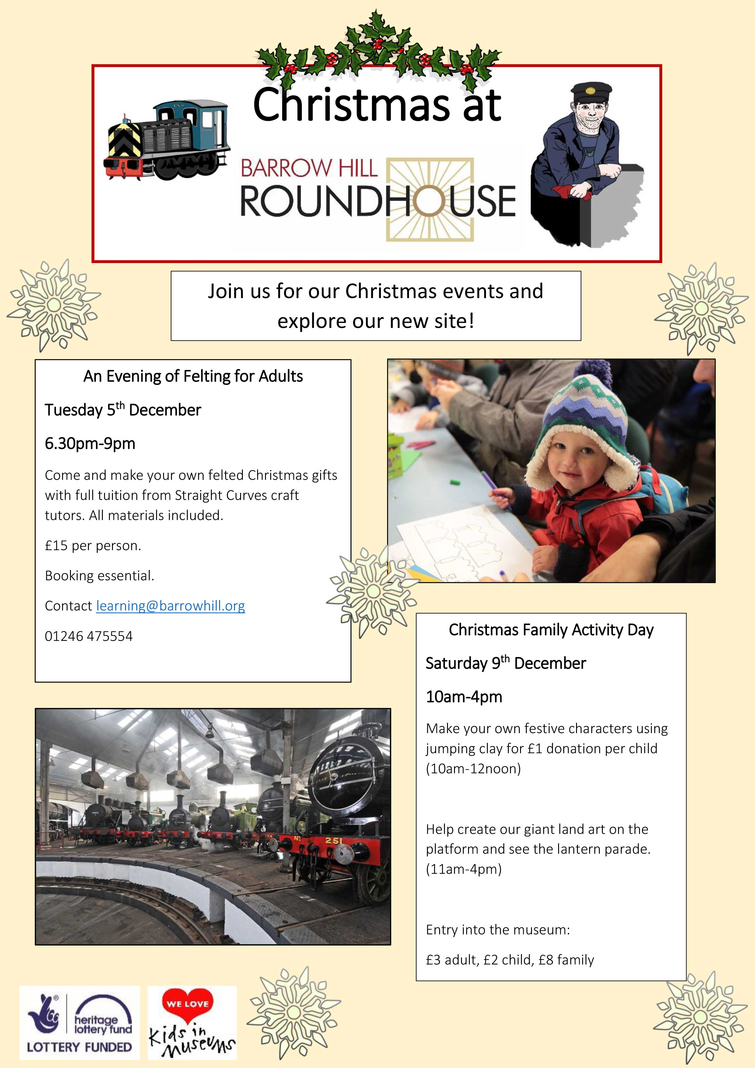 Family Events at Barrow Hill Roundhouse, Derbyshire