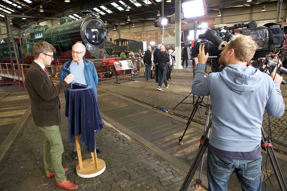 Filming at Barrow Hill