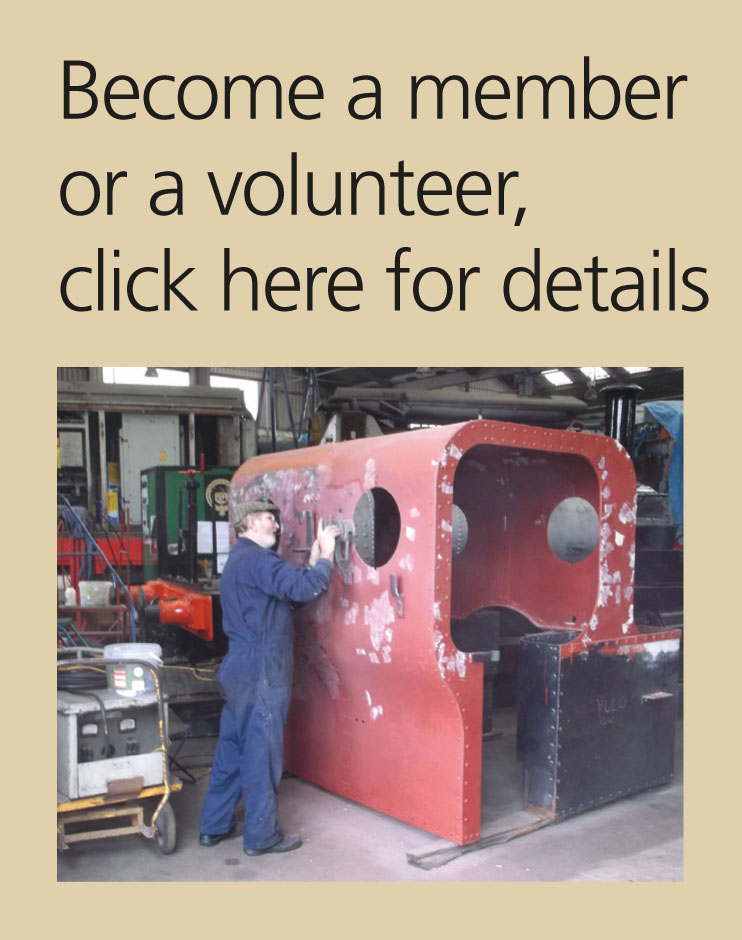 Become a member of the Engine Shed Society or a volunteer click here for more details