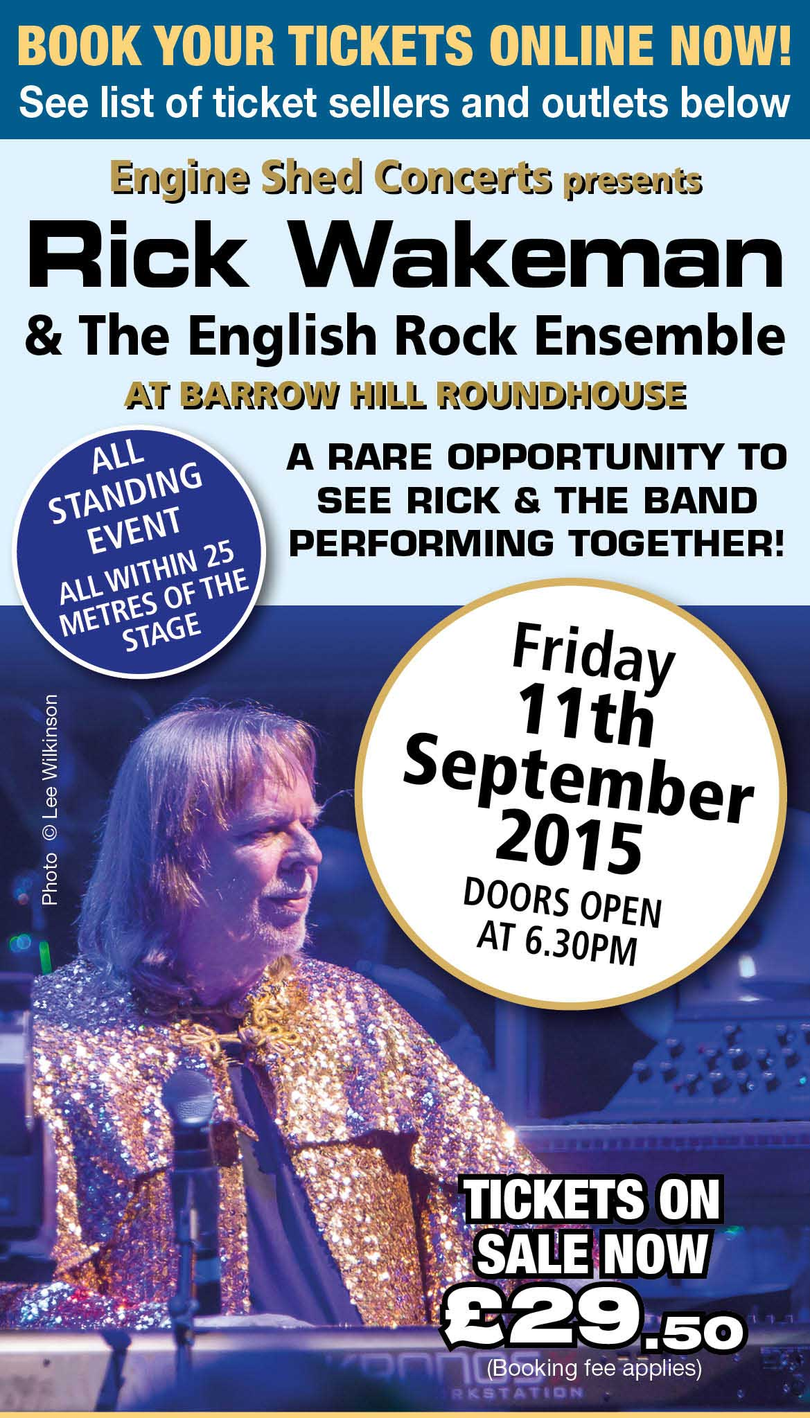 Rick Wakeman live in concert, Music event at Barrow Hill Roundhouse, Chesterfield, Derbyshire