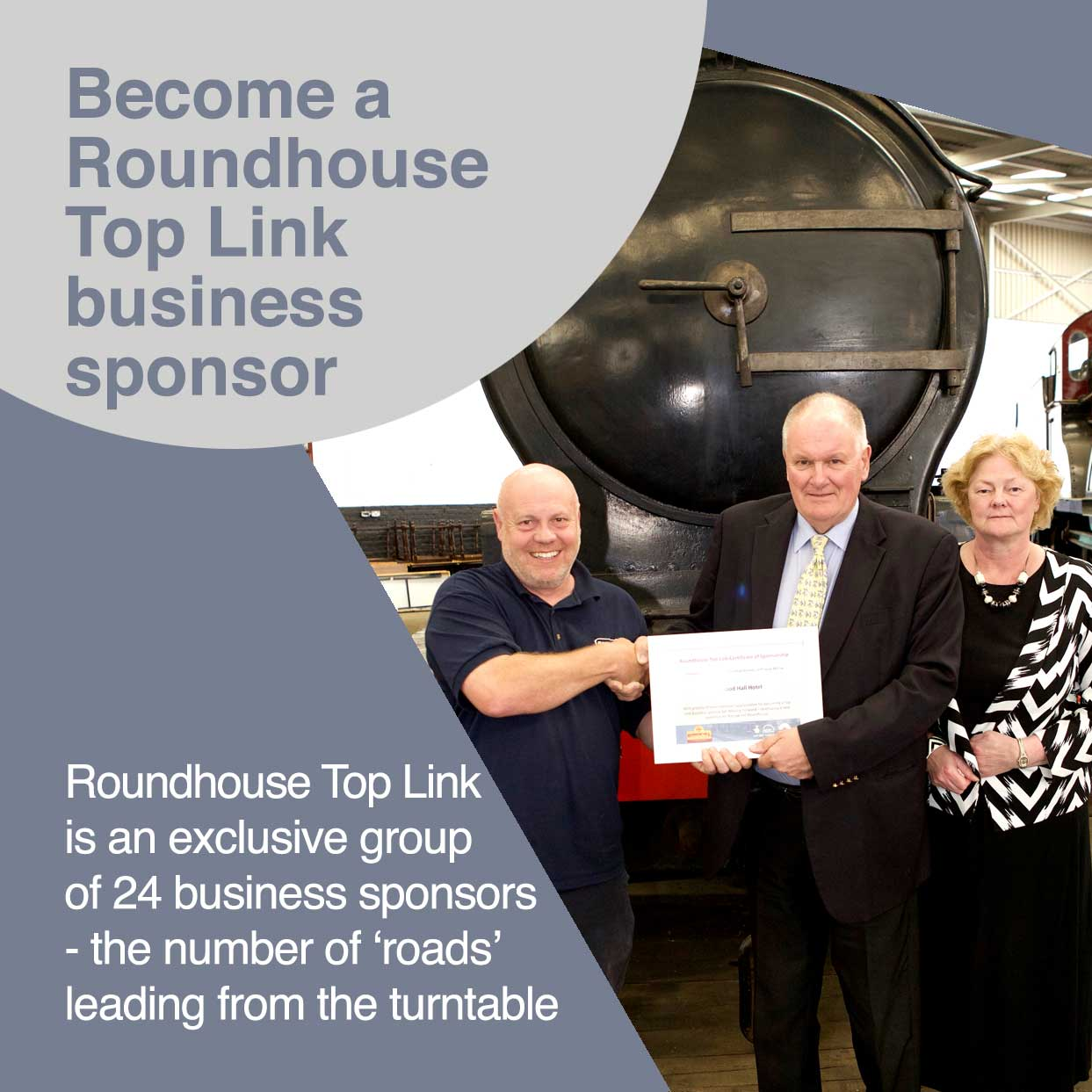 Click here for more information about becoming a Roundhouse Top Link Business Sponsor
