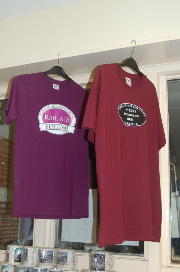 Barrow Hill Clothing in the shop Rail ale festival t-shirts and more