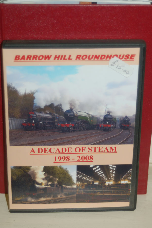 A Decade of Steam DVD for sale at Barrow Hill Roundhouse