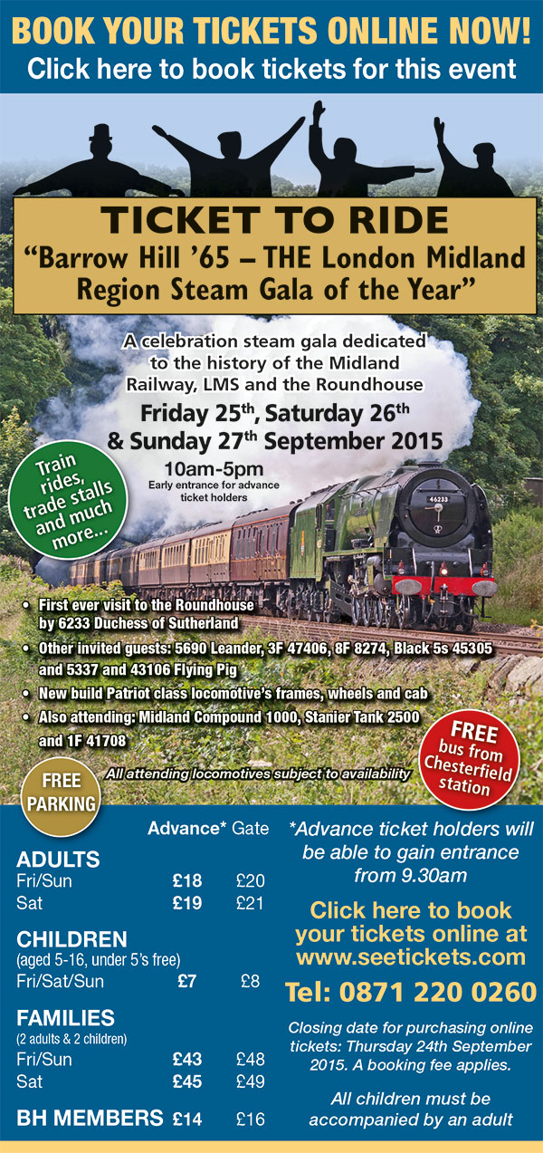 Steam Gala, Ticket to Ride at Barrow Hill Roundhouse, Chesterfield, Derbyshire