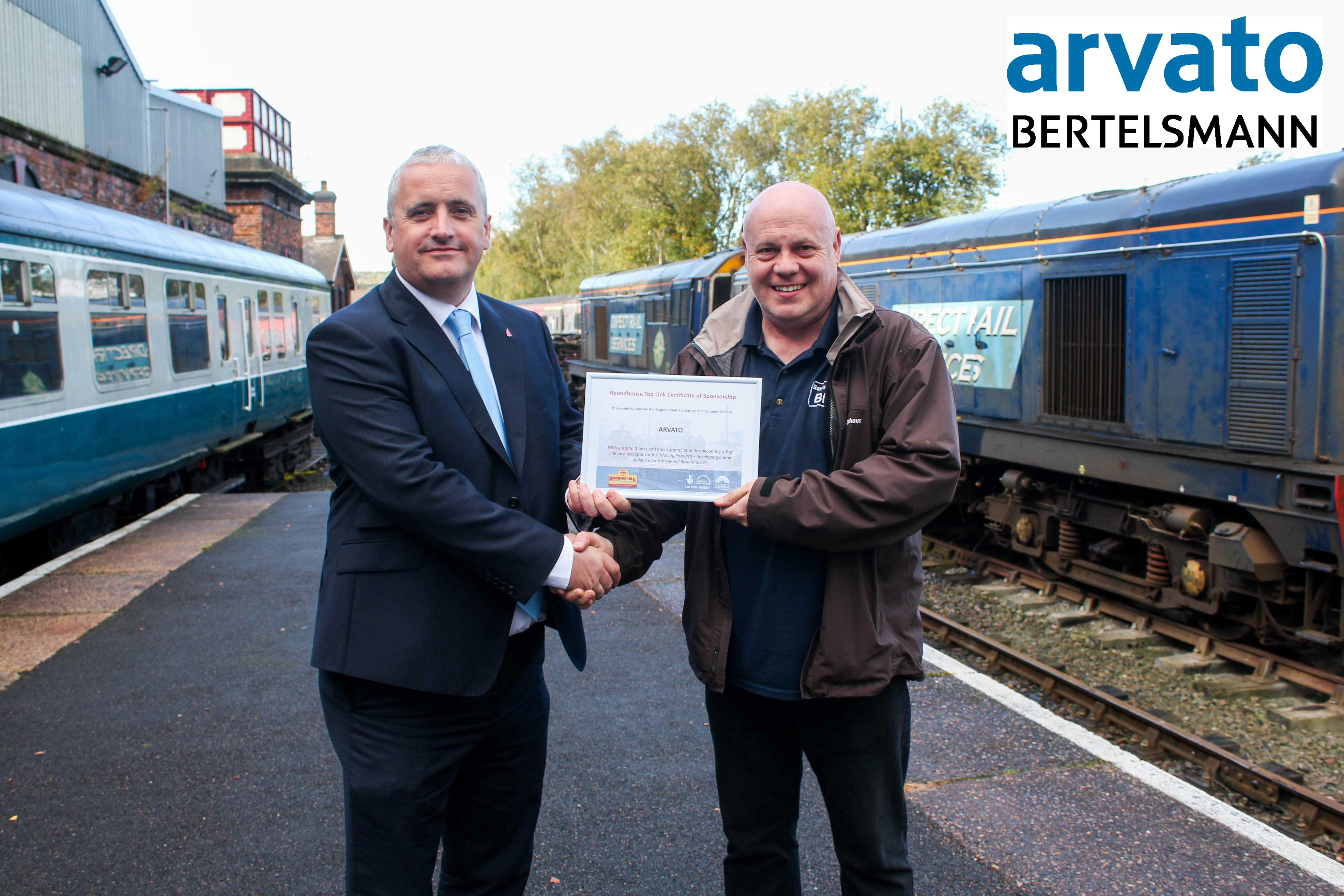 Arvato are Barrow Hill's first Top Link Sponsor to raise money for the moving forward project