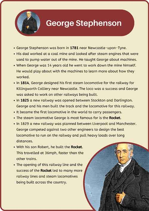 George Stephenson Fact Sheet