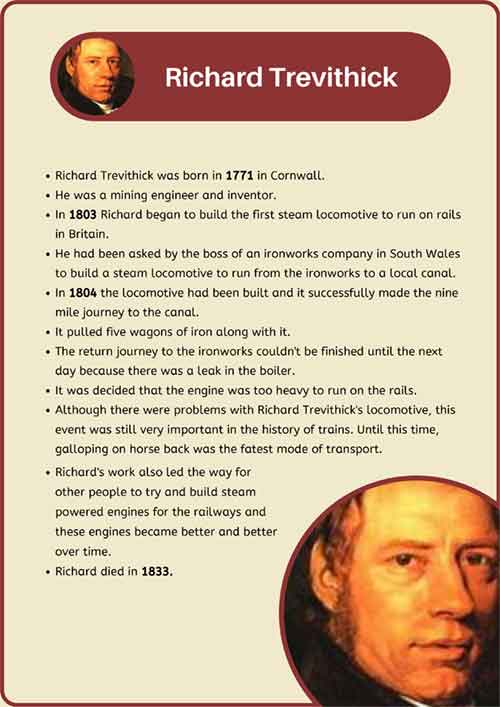 Richard Trevithick Fact Sheet